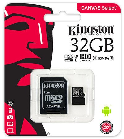 Kingston 32GB microSDHC Canvas