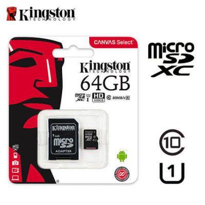 Kingston 64GB microSDHC Canvas